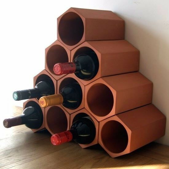 Terracotta 10-bottle Wine Cellar
