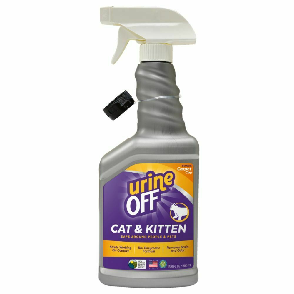 Urine Off Odour & Stain Remover Cleaner Spray For Cats And Kittens 500ml
