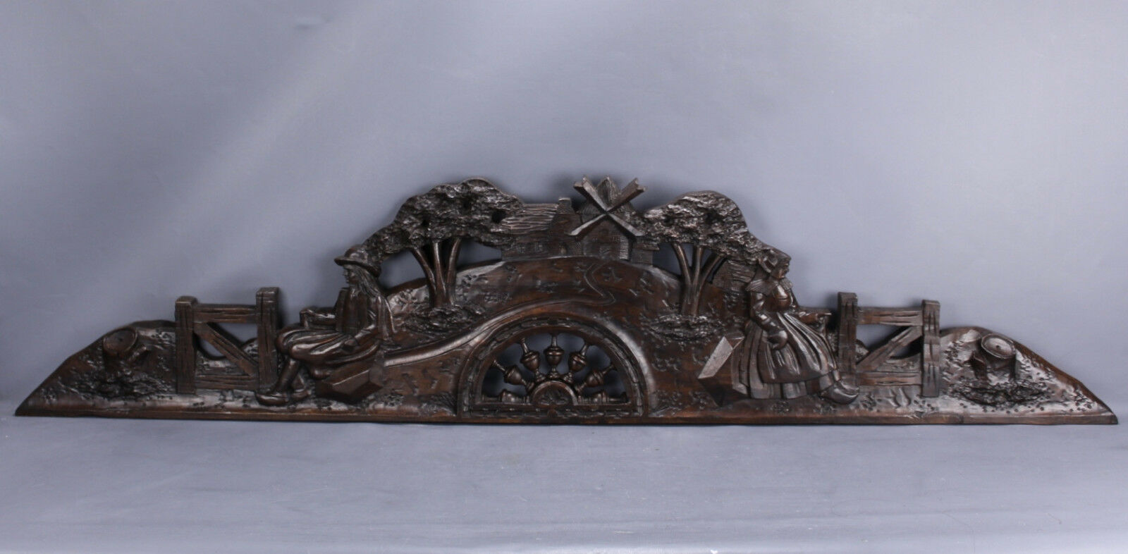 Antique Pediment Carved Wood Brittany