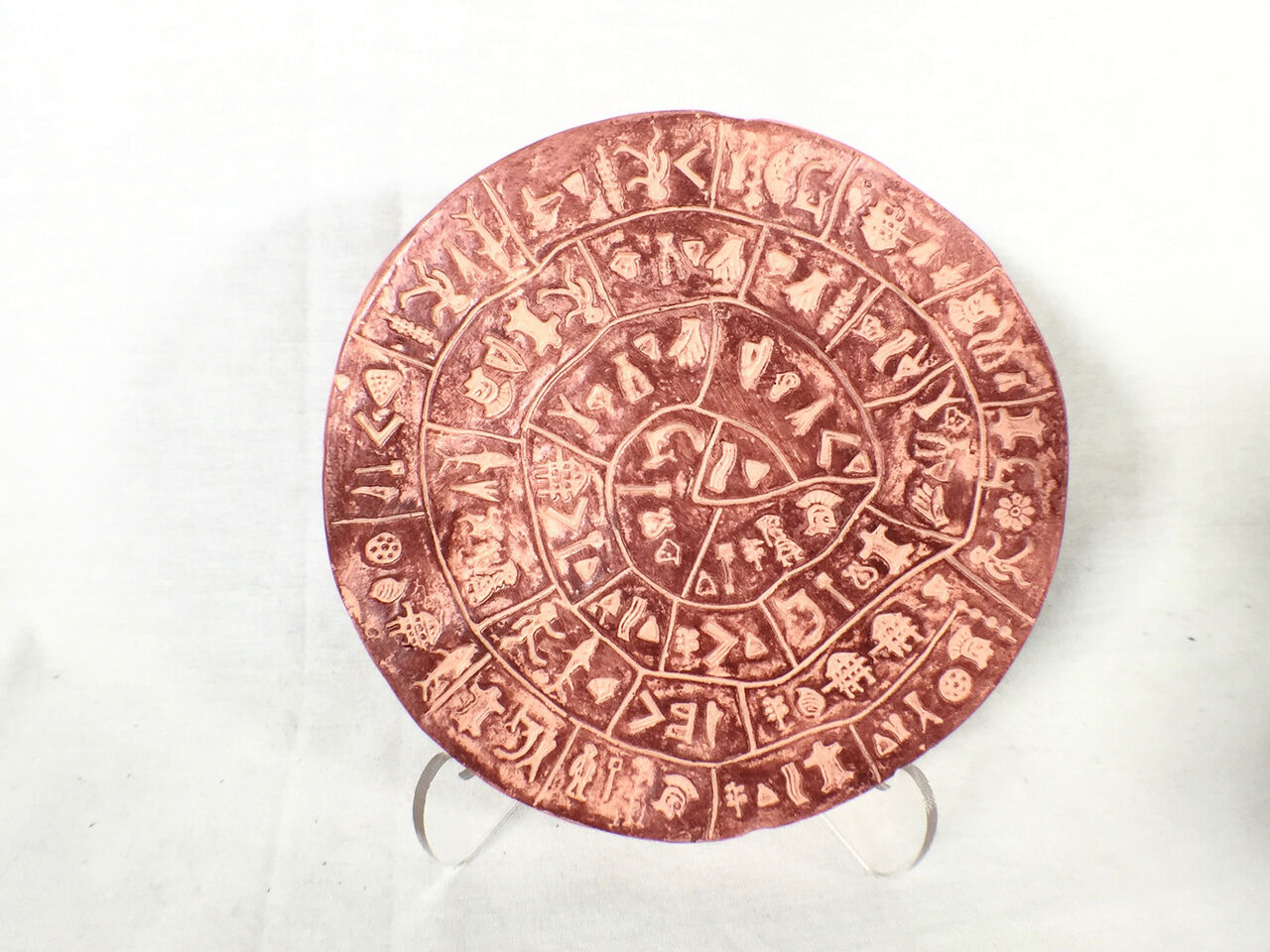 Phaistos Disc, Minoan Mystery Replica  Very Detailed Item, Ancient Mystery