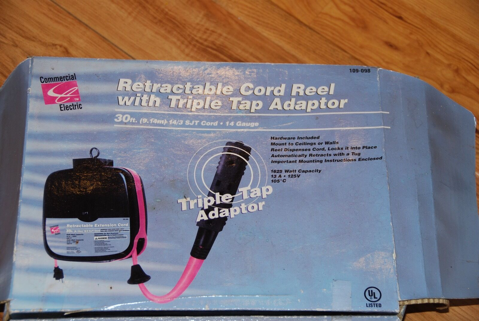 Retractable Cord Reel 4500 Picclick Extension W Circuit Breaker 1 Of 1only Available