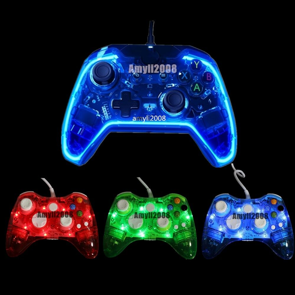 Glow Light Usb Wired Gamepad Game Controller For Microsoft Xbox 360 Logitech F310 One 1 Of 9free Shipping See More