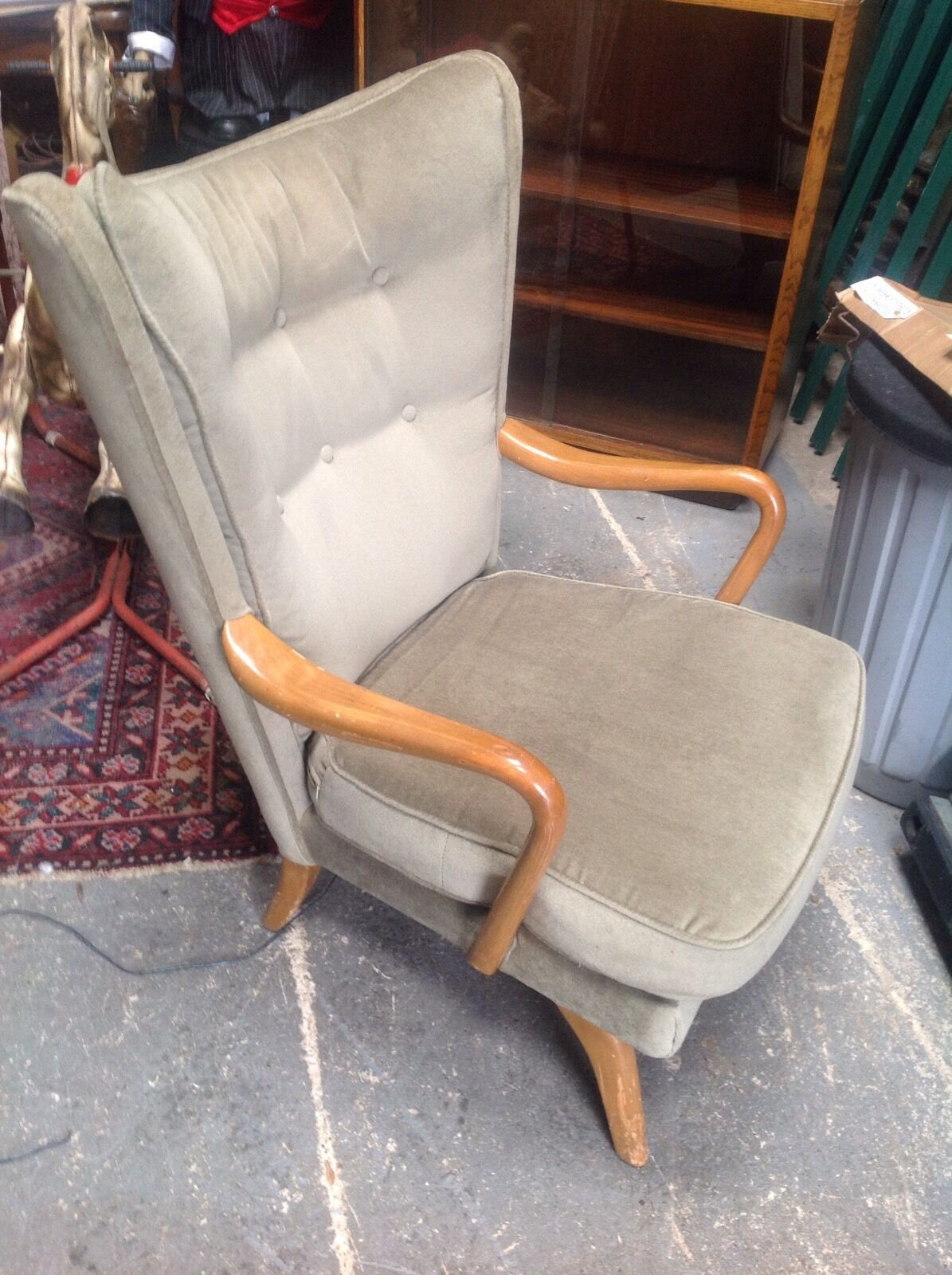 Retro G Plan Winged Egg Style Armchair Vintage H K