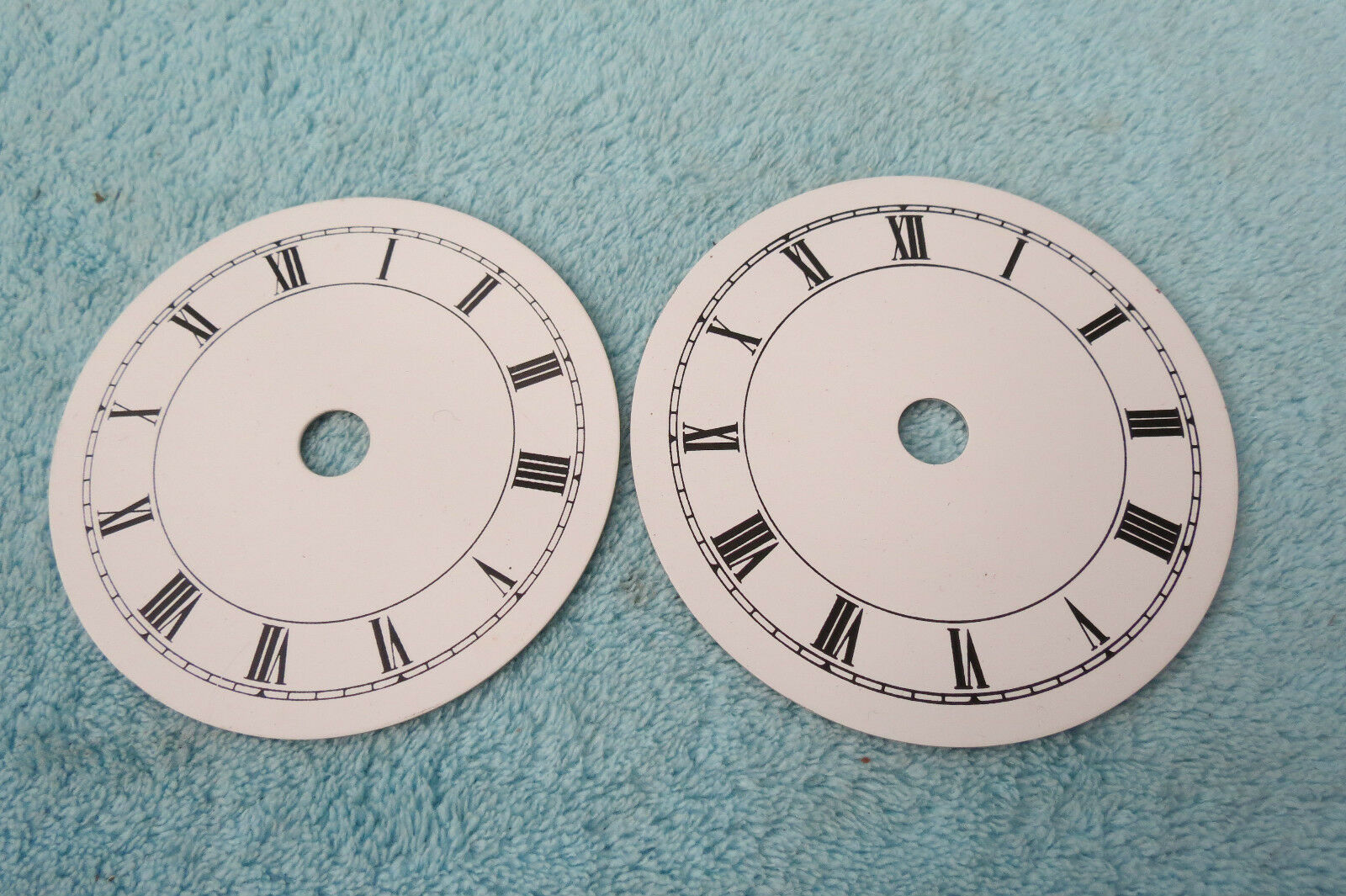 X 2 Replacement Clock Dials 9Cm And 8.5Cm