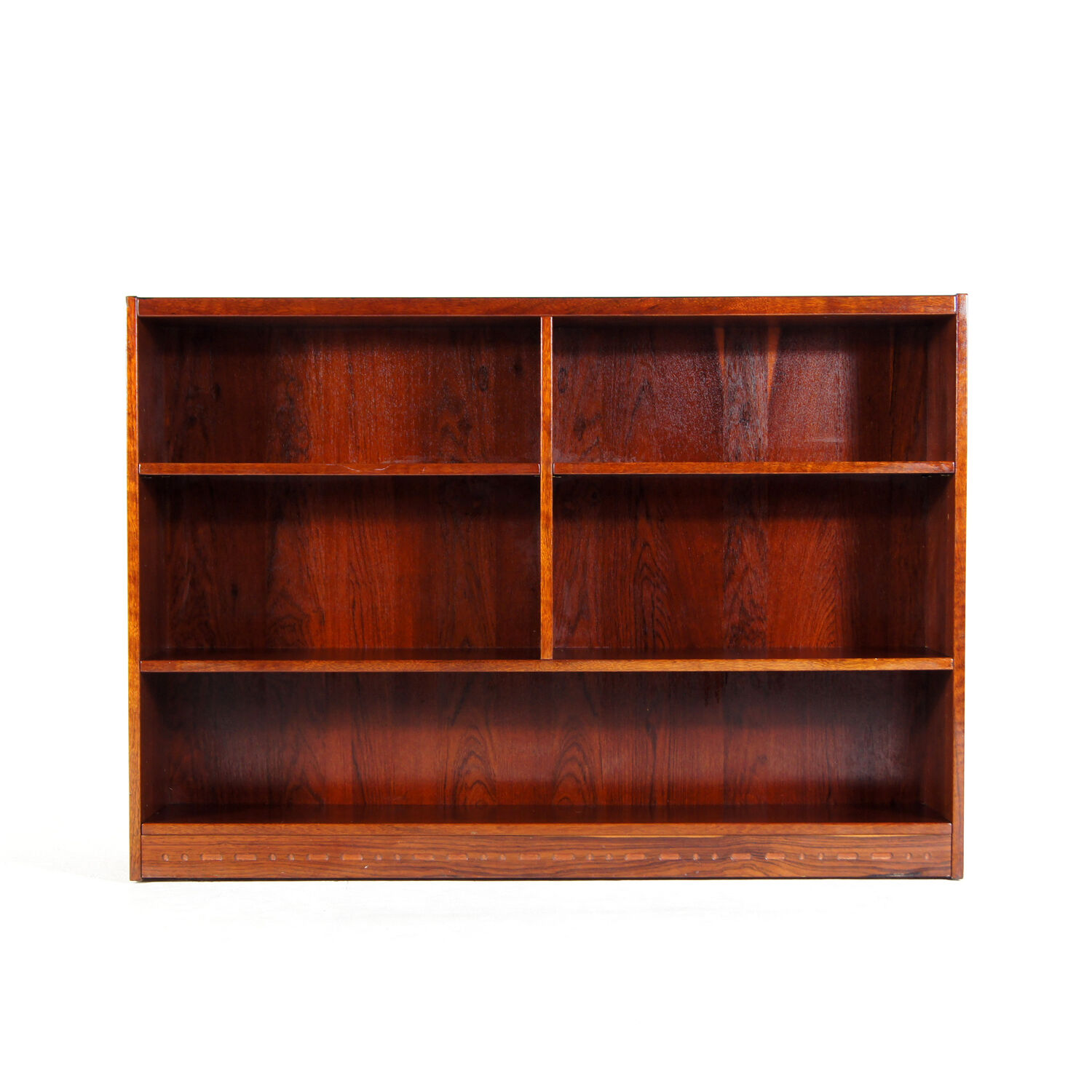 Retro Vintage Danish Modern Rosewood Display Cabinet Bookcase Book Shelves 1970s