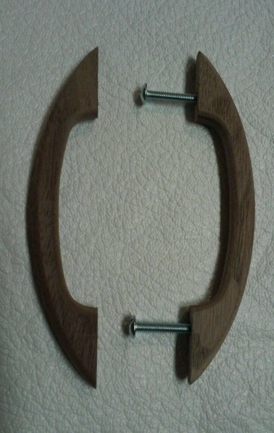 """20 Pcs.Walnut Solid Wood Drawer Pulls Handles with Hardware 5.5"""" New"""
