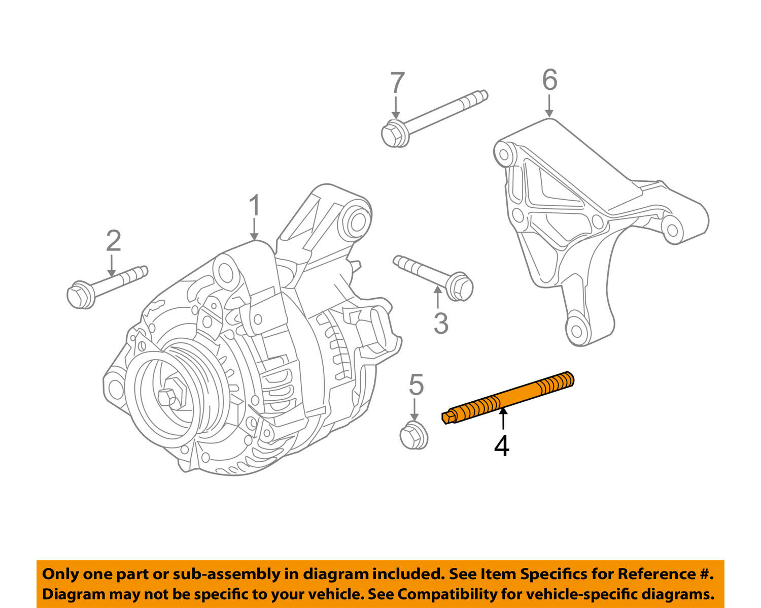 Gm Oem Alternator Mount Bracket Stud 12555610 885 Picclick Delco Wiring Diagram Chrysler 300 1 Of 2 See More