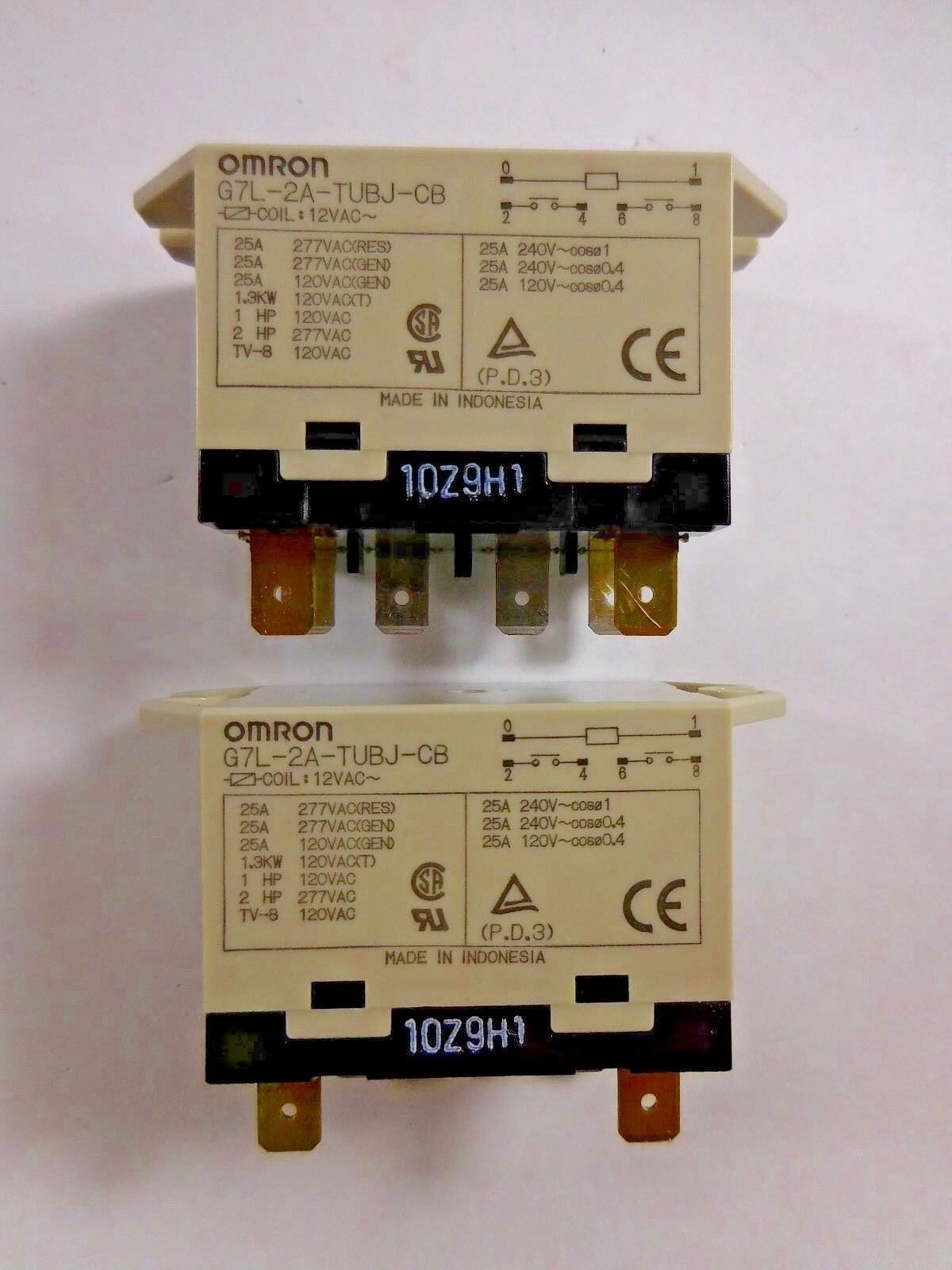 Omron G7l 2a Tubj Cb Pack Of 2 2000 Picclick Power Relay 1 4