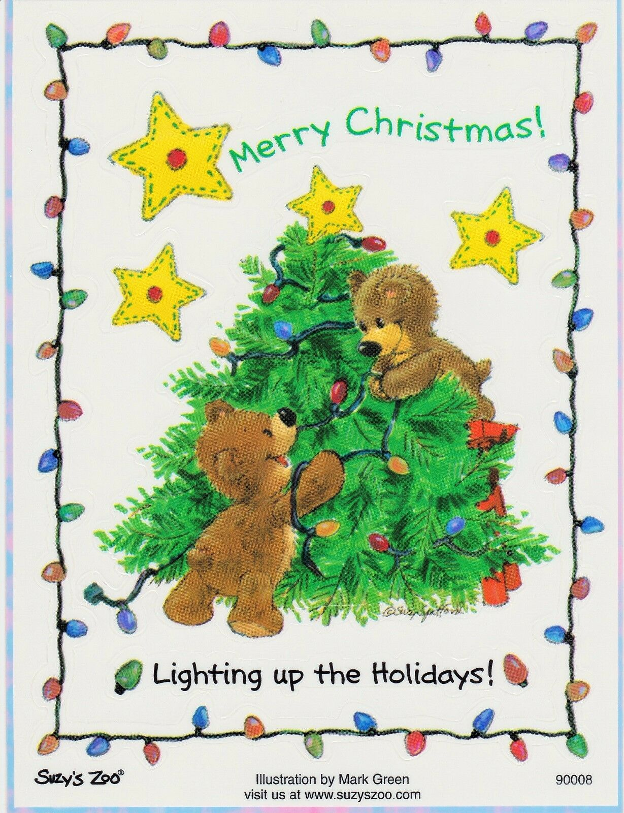 Suzys Zoo Scrapbooking Stickers 25 Sheets Bears Merry Christmas Tree