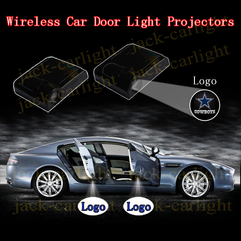 2 x Wireless Car led projectors for Dallas Cowboys shadow ghost door light