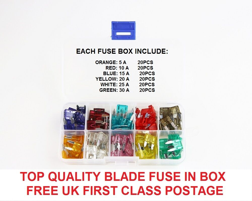 120pcs Land Rover Car Auto Mini Blade Fuses Box 5 10 15 20 25 30 Fuse 1 Of 4only 0 Available