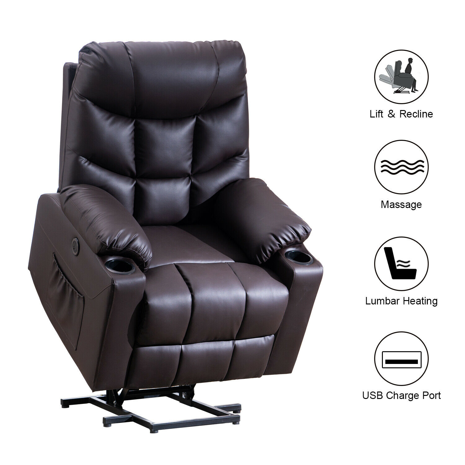 28 heated chairs home chester electric heated leather massa