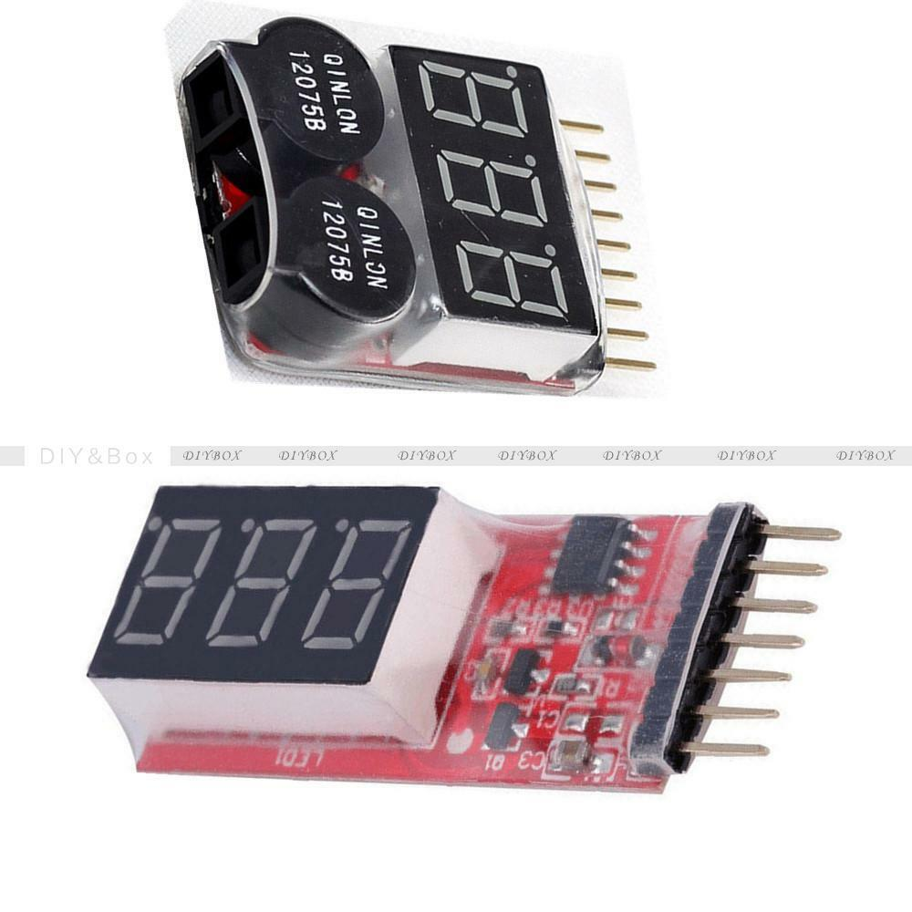 2 6s 1 8s Indicator Lipo Li Ion Battery Voltage Tester Buzzer