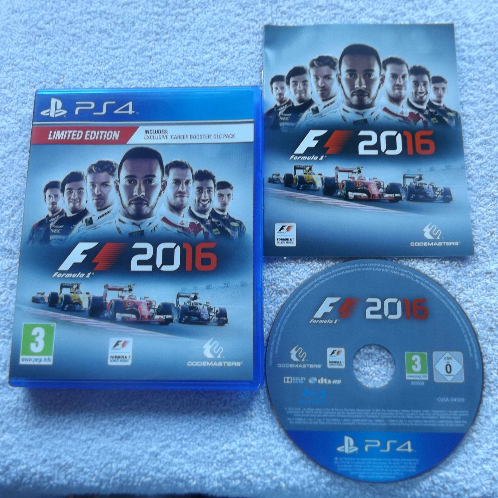 f1 formula 1 2016 limited edition playstation 4 ps4 racing v g c fast post picclick uk. Black Bedroom Furniture Sets. Home Design Ideas