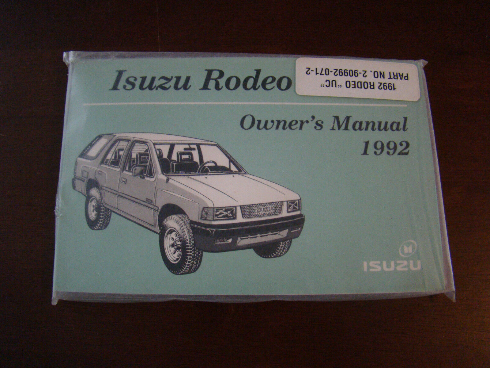 1992 Isuzu Rodeo Owners Manual 31751 1 of 1Only 1 available ...