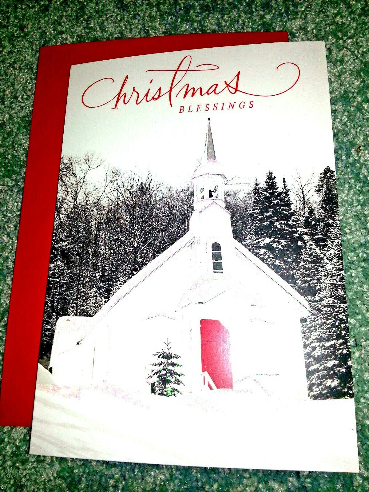 16 HALLMARK DAYSPRING Religious CHRISTMAS CARDS Snowy Chapel BOXED ...