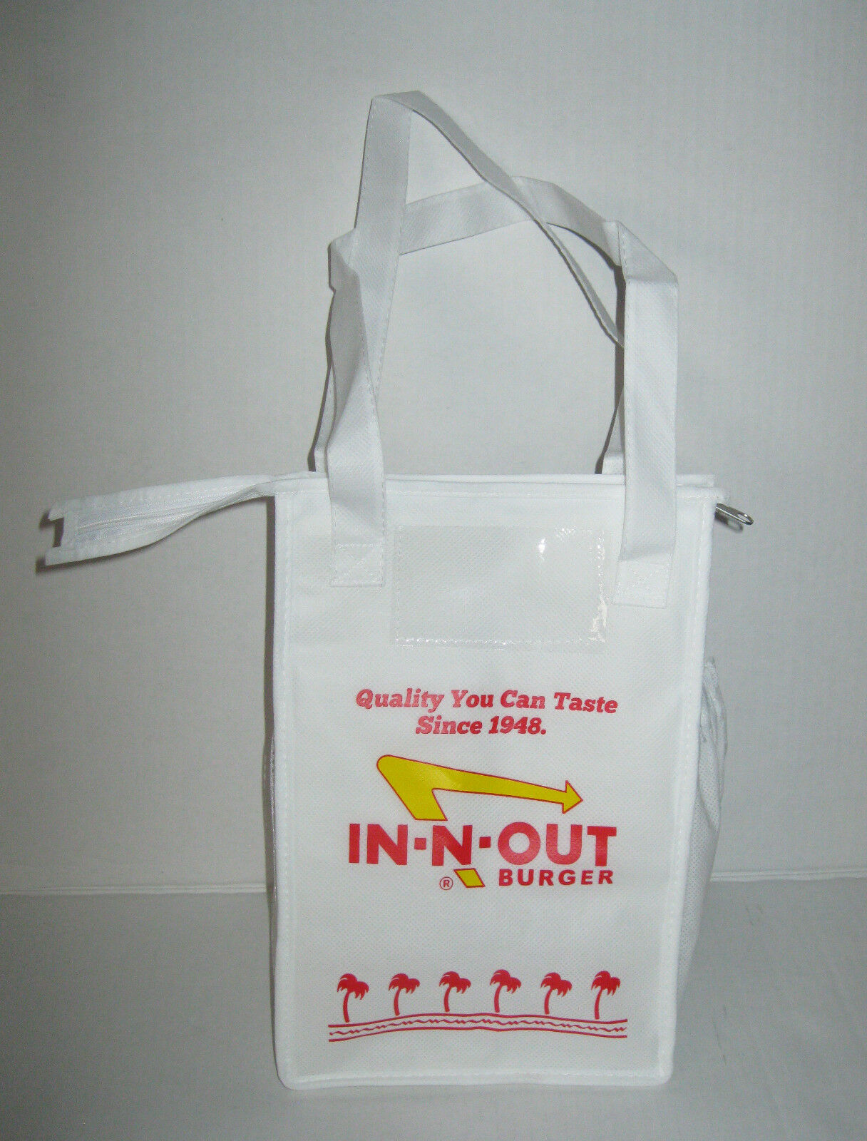 IN N OUT In-N-Out Burger Insulated Non Woven Lunch Bag Tote Zippered ...