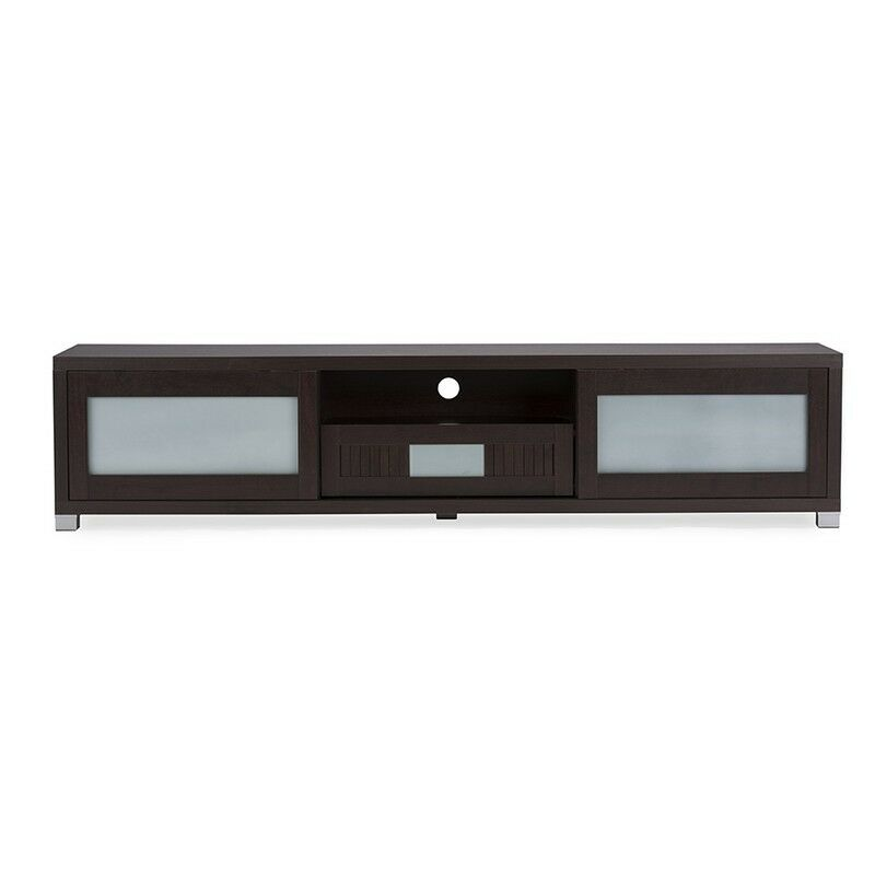 Gerhardine Wood 70 Inch TV Cabinet With 2 Sliding Doors And Drawer NEW 1 Of  1FREE Shipping ...