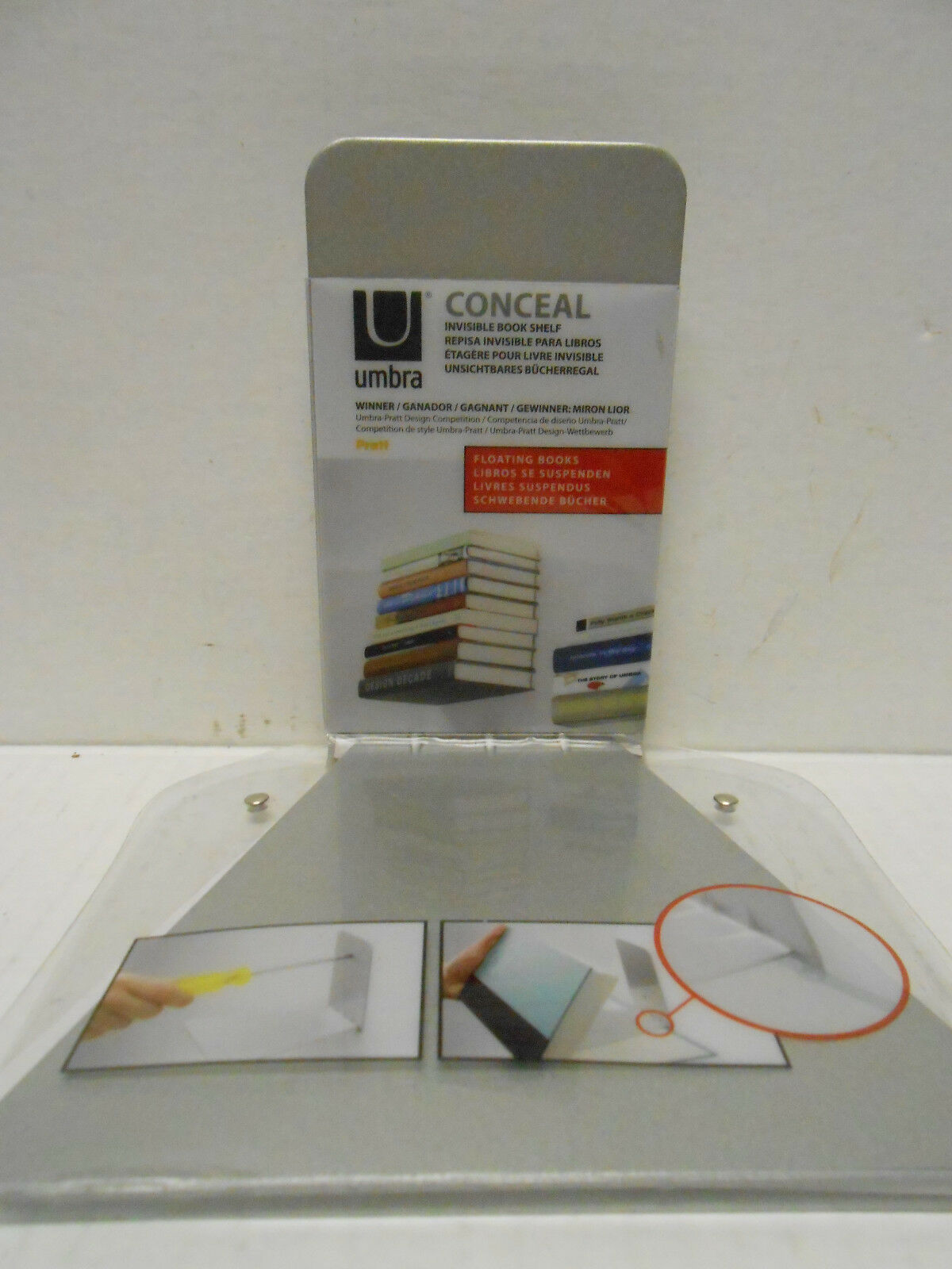 conceal invisible shelf wall mount floating bookshelf book holder