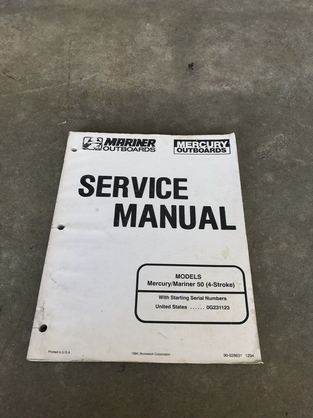 1 of 2Only 1 available Oem 1996 Mariner Outboards Mercury 50 4 Stroke  Engine Service Manual 90-828631