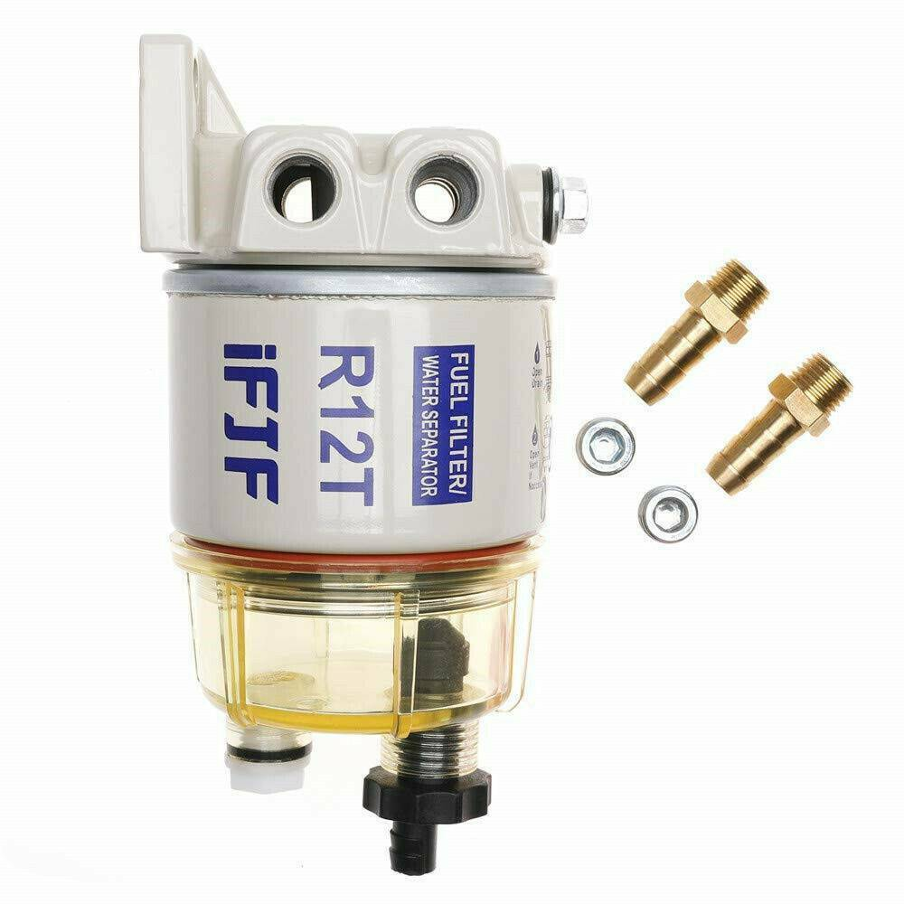 With Fuel Fittings Marine Spin On Filter Water Separator R12t Racor For 1 Of 12free Shipping See More