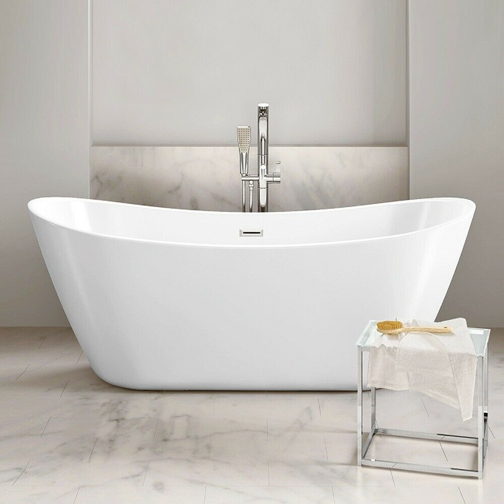 BOAT FREESTANDING BATH Thin Double Ended 1700 1800 x 800 Designer ...