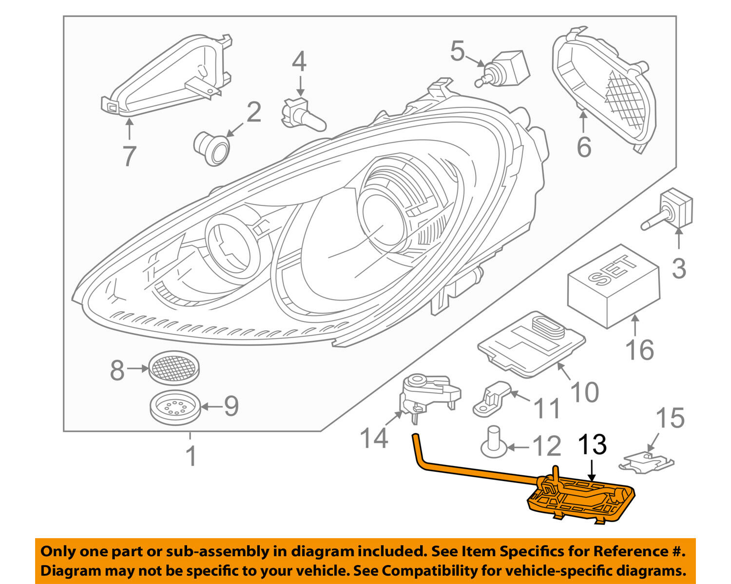 Porsche Oem Cayenne Headlight Head Light Lamp Mount Assembly Left Wiring Harness 1 Of 2only Available