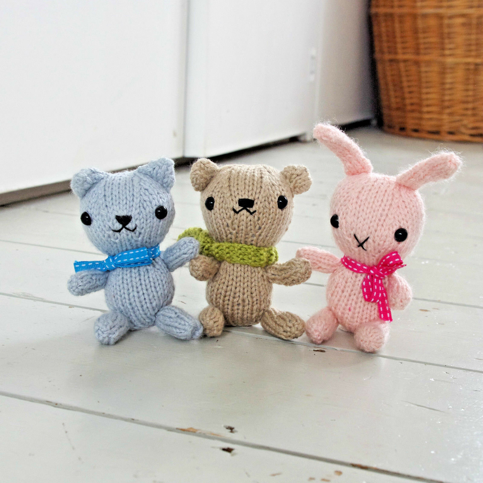 NEW KNITTING PATTERN Bunny Rabbit Cat Teddy Bear Toy Free Penguin ...