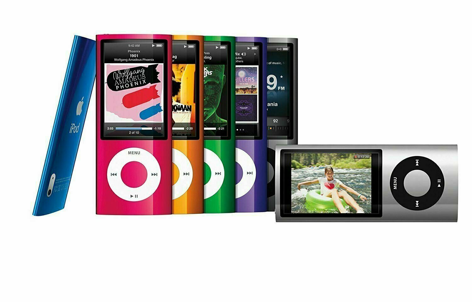 apple ipod nano 5th generation 8gb 16gb used tested. Black Bedroom Furniture Sets. Home Design Ideas