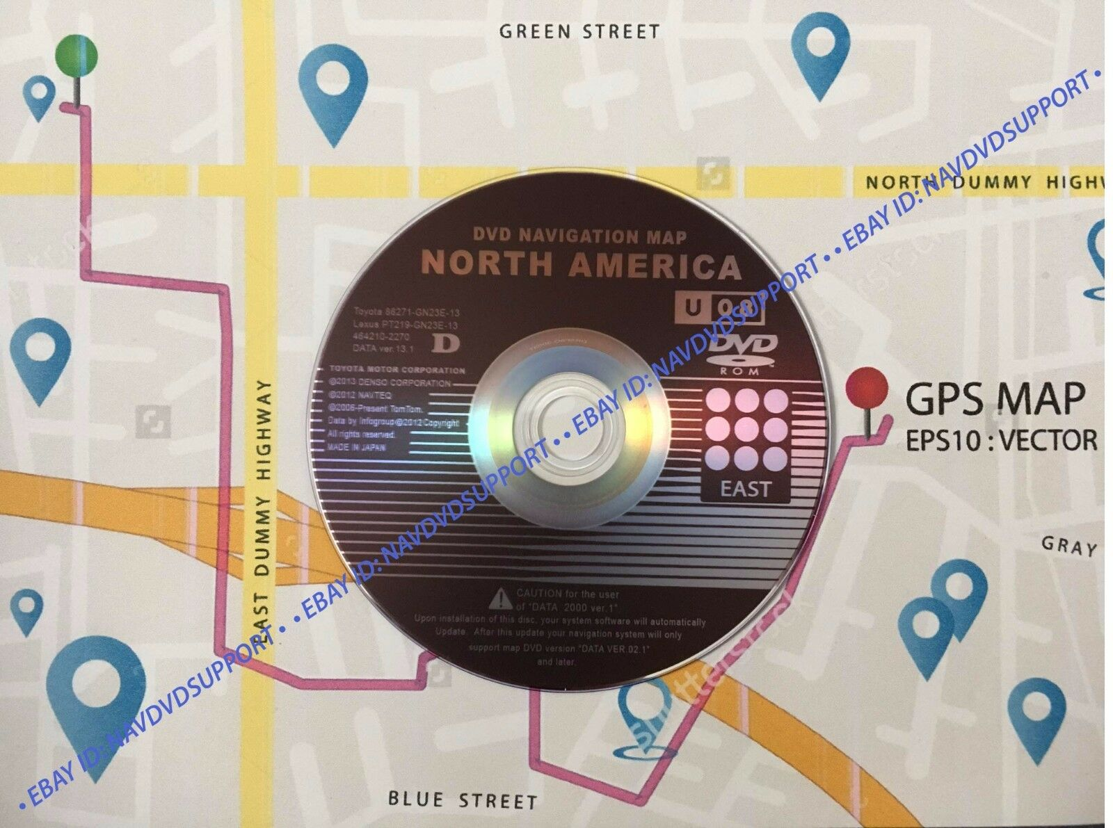 NEW LATEST Toyota Lexus U08 13.1 Navigation GPS Map Update DVD Gen 2/3 EAST  1 of 2FREE Shipping NEW LATEST Toyota Lexus U08 13.1 Navigation ...