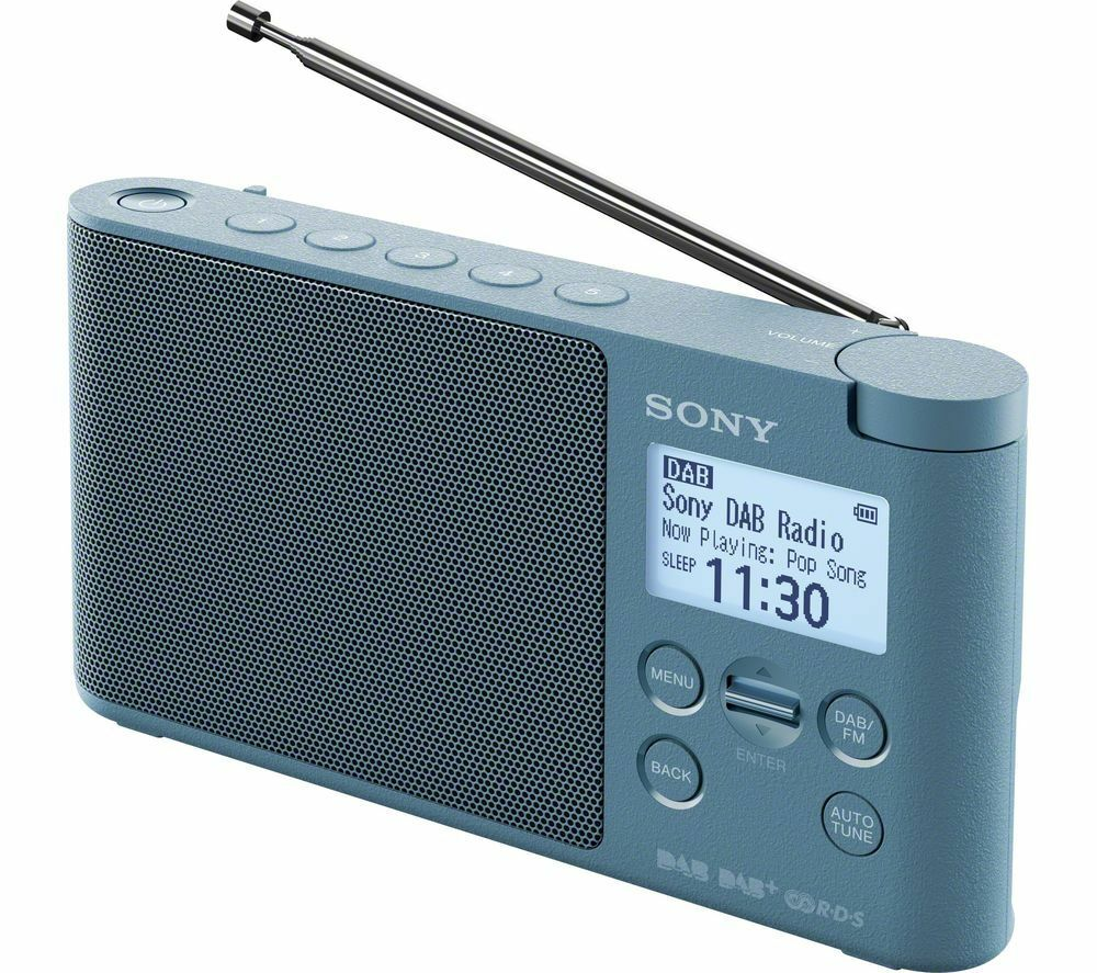 sony xdr s41d portable dab fm clock radio blue. Black Bedroom Furniture Sets. Home Design Ideas