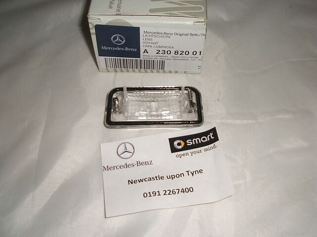 Genuine mercedes benz r230 sl class rear number plate lens for Mercedes benz usa customer service phone number