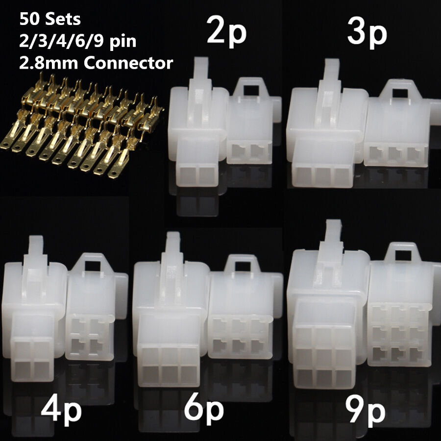 50sets 2 3 4 6 9 pin wire connector auto car electric terminal plug rh picclick com