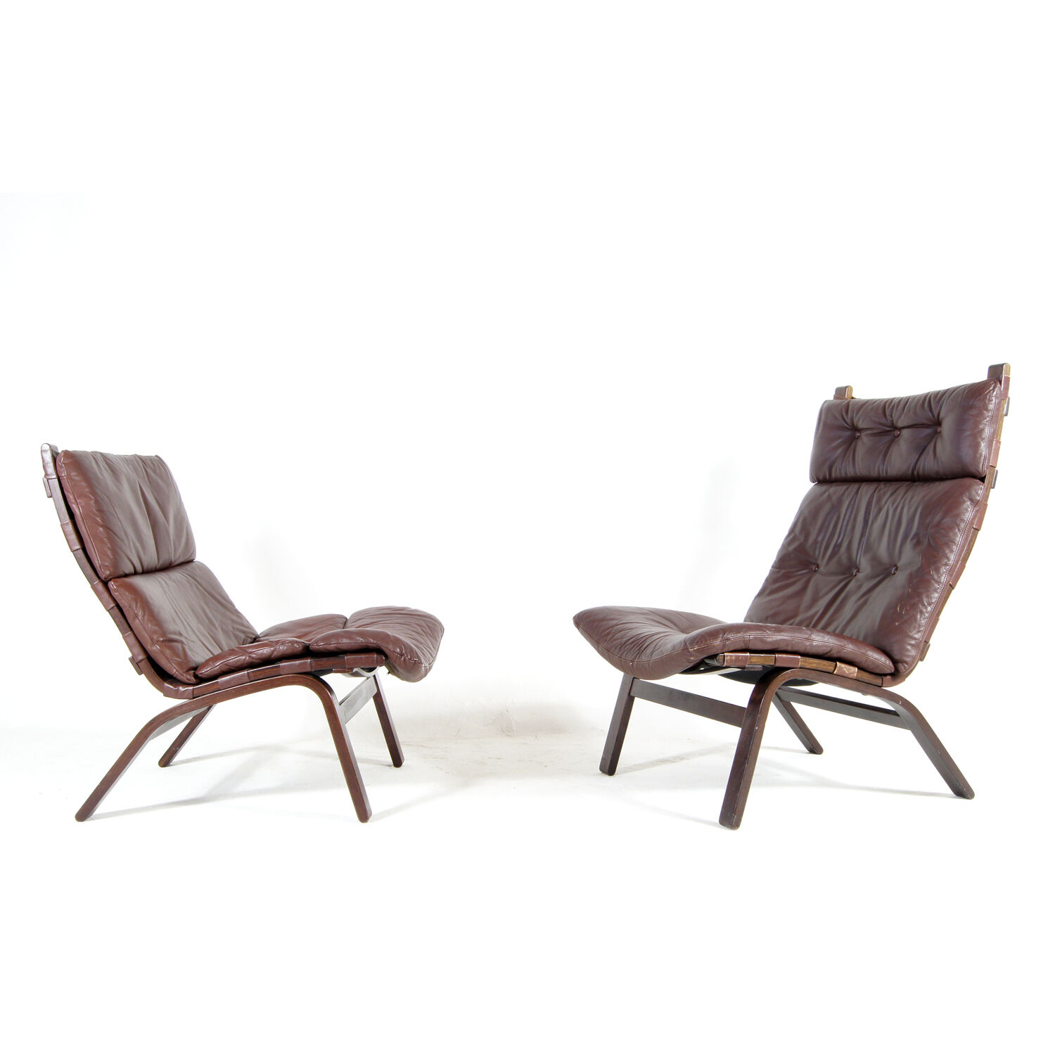 1 sold retro vintage danish farstrup leather rosewood for Vintage 70s chair