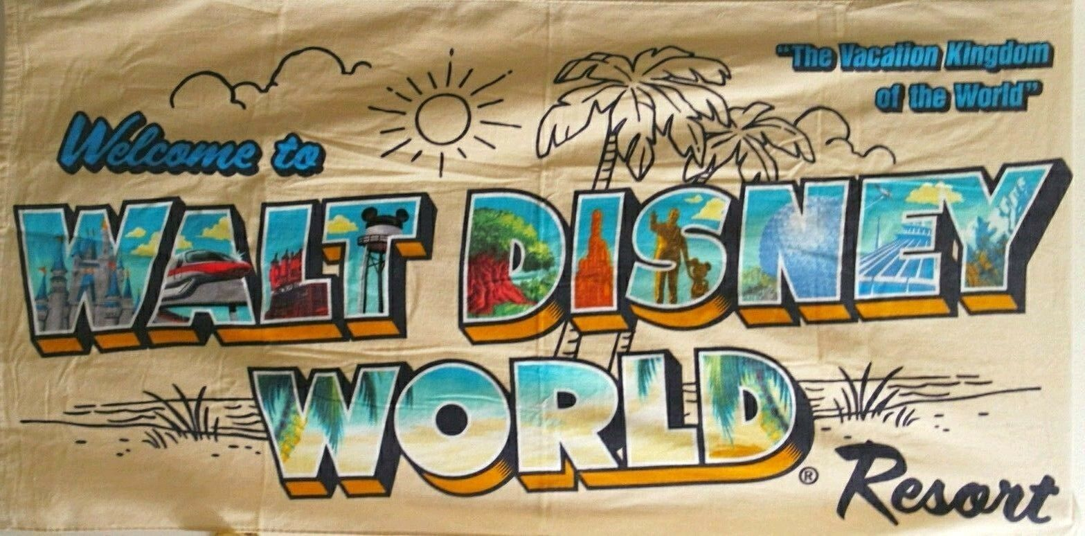 Walt Disney World Resort Beige Large Beach Towel 1 Of 1only Available