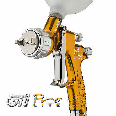 devilbiss gti pro lite spray gun gold base coat te10 1 3 picclick uk. Black Bedroom Furniture Sets. Home Design Ideas