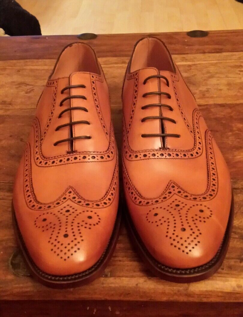 loake mens design smart lace up leather formal shoes size