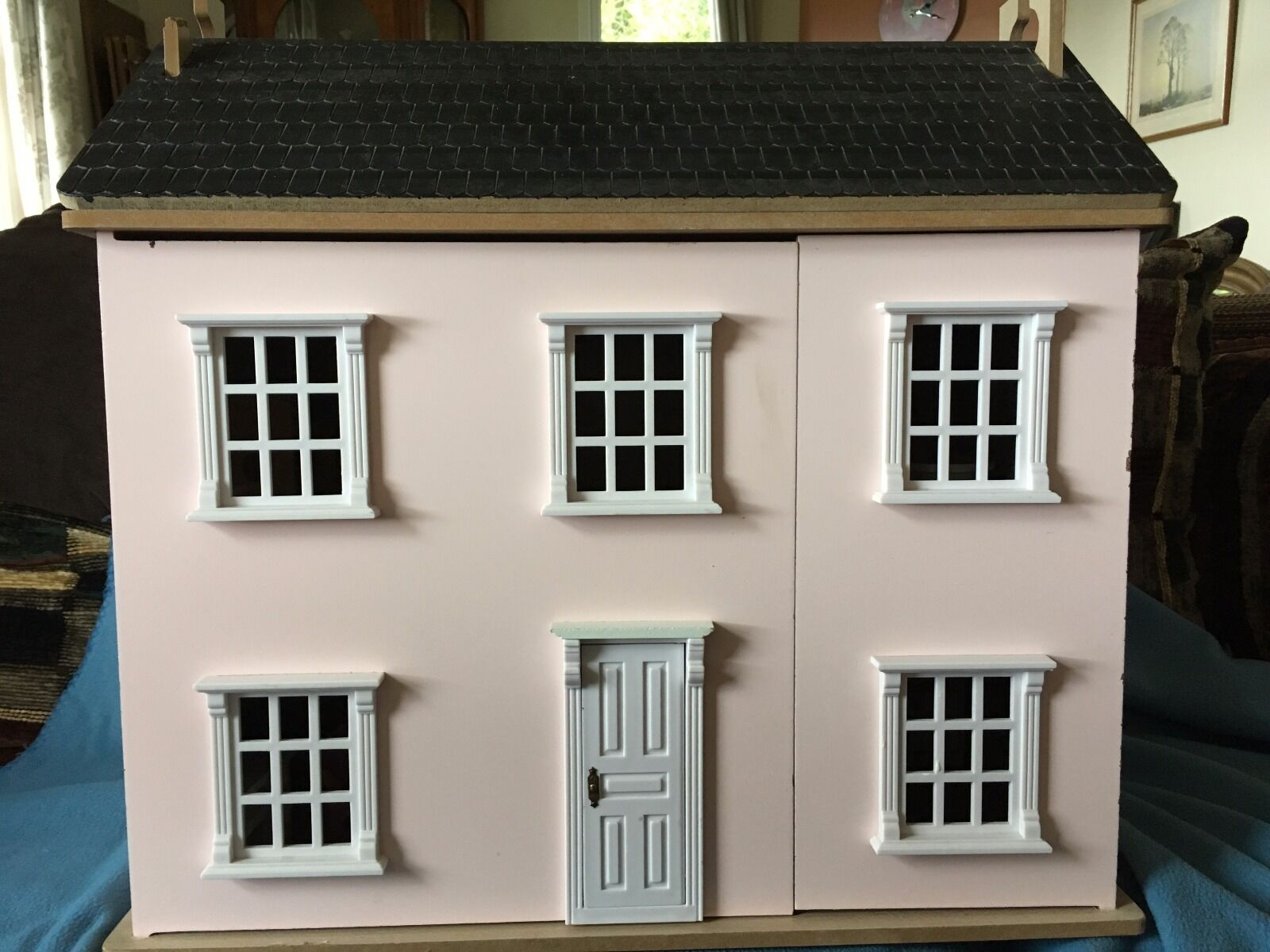 Wooden Dolls House And Furniture Picclick Uk