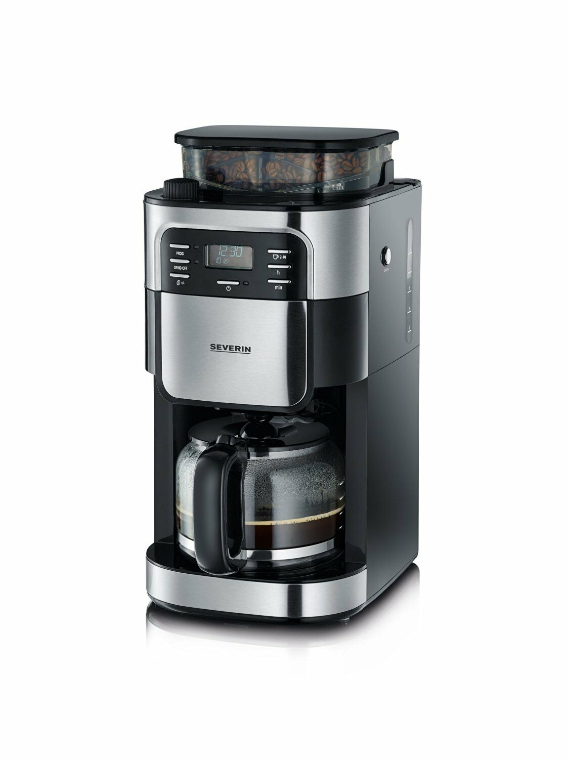 severin ka 4810 kaffeeautomat kaffeemaschine mit mahlwerk schwarz neu ovp eur 112 90. Black Bedroom Furniture Sets. Home Design Ideas
