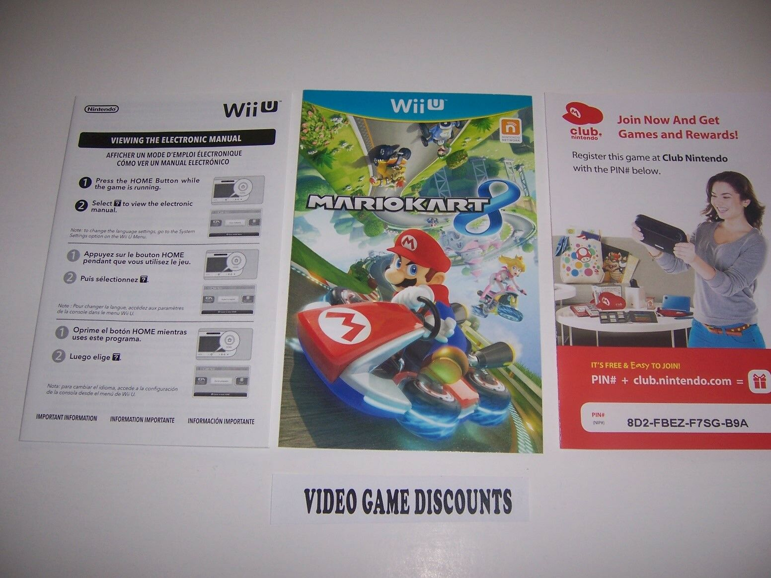 Mario Kart 8 for Wiiu Wii U Instructions Manual Booklet - NO GAME INCLUDED  1 of 1Only 1 available See More
