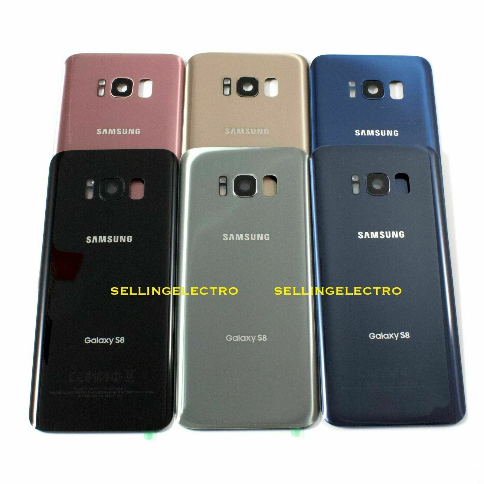 Back Glass Cover Battery Door For Samsung Galaxy S8 G950 With