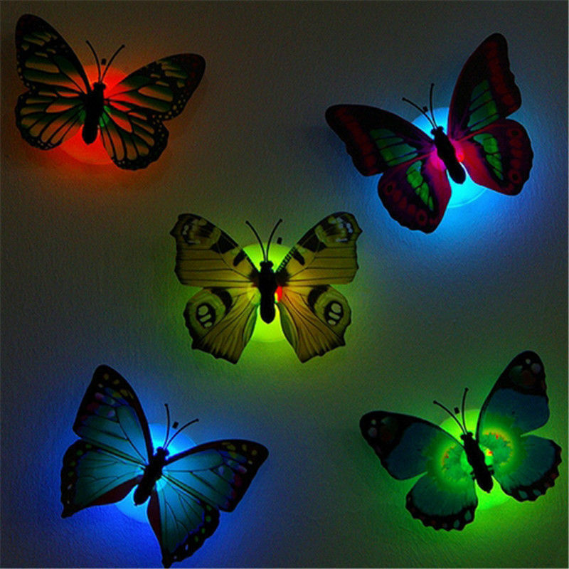 Wall Night Light Target : 3D Butterfly LED Night Light Art Design Decal Wall Sticker Home Mural Room Decor EUR 1,90 ...