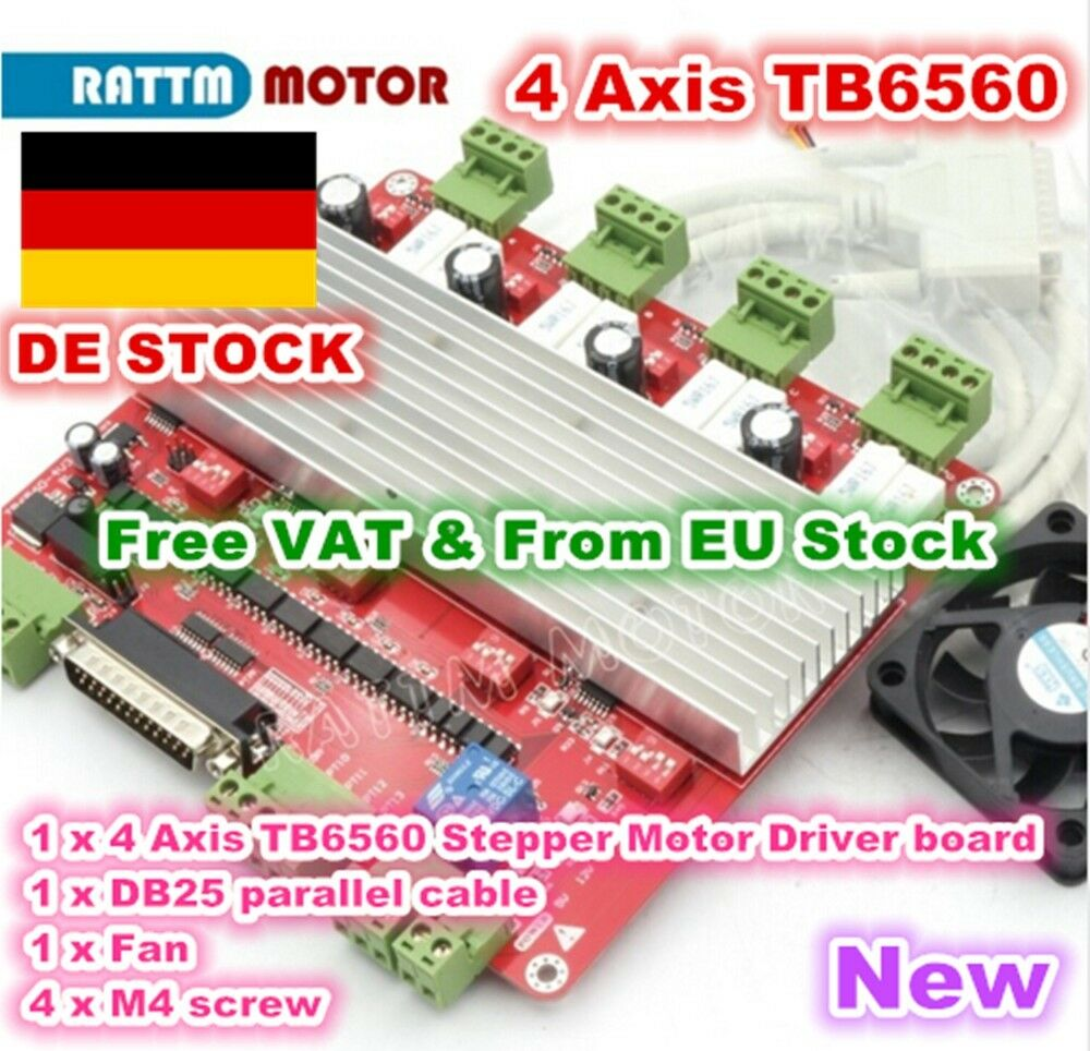 De 4 Axis Cnc Controller Tb6560 Stepper Motor Driver Board V Type For Cnc Router Eur 39 00