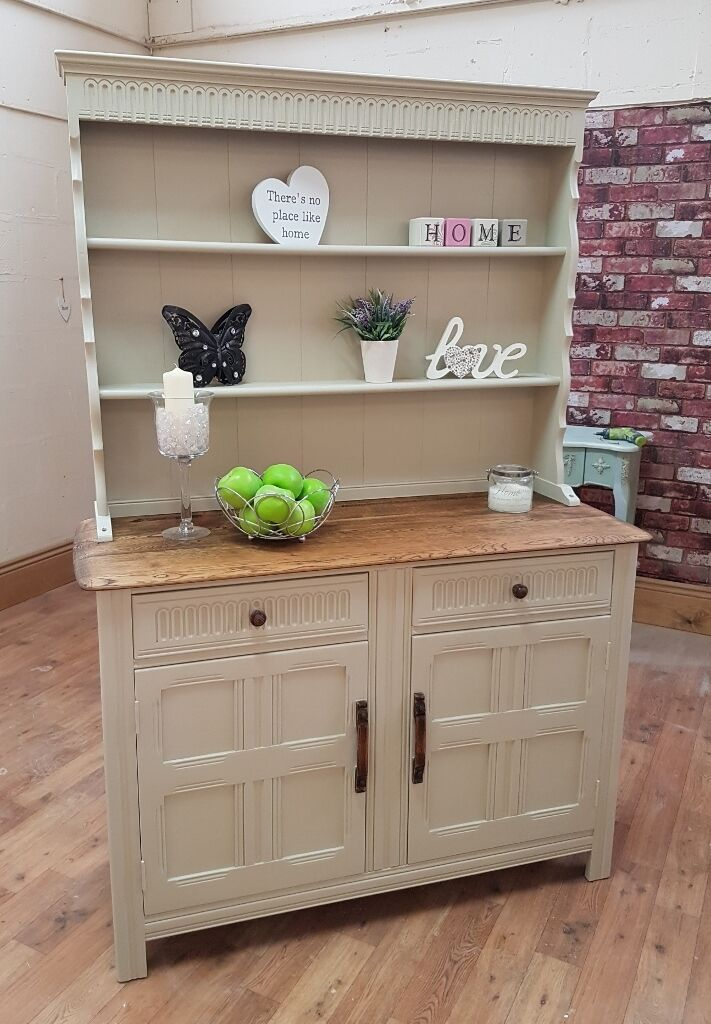 Gorgeous Shabby Chic Solid Oak Priory Welsh Dresser Farrow Ball 32