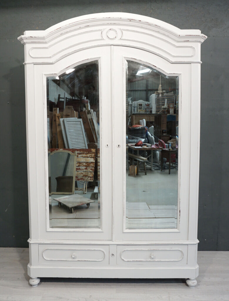 shabby chic 2 door antique french wardrobe french armoire br337 picclick uk. Black Bedroom Furniture Sets. Home Design Ideas