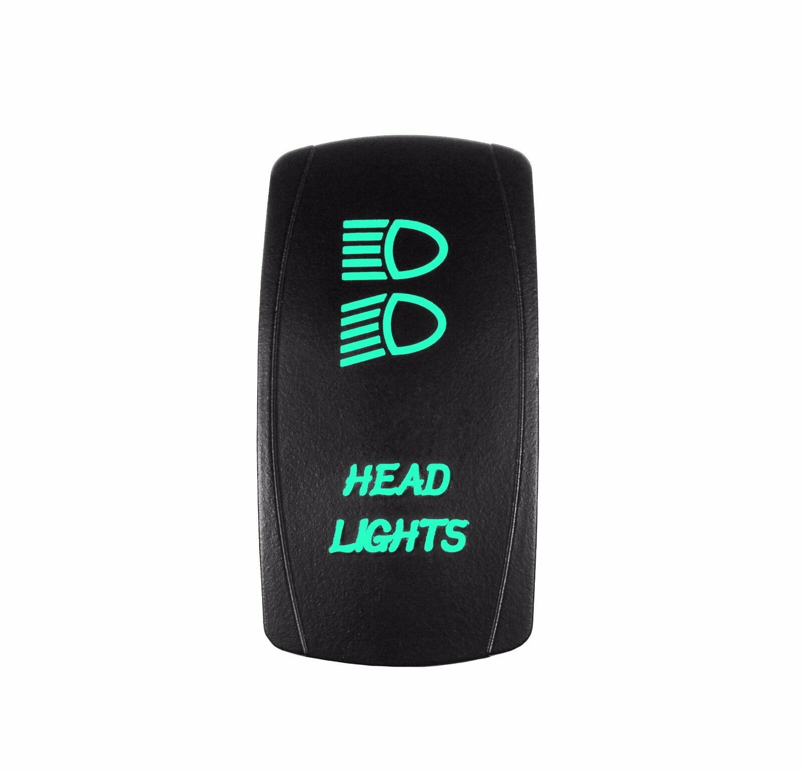 Green 3 Position Rocker Switch Laser Etched 20a 12v Led Head Lights With Legend Offroad 1 Of 5only Available See More