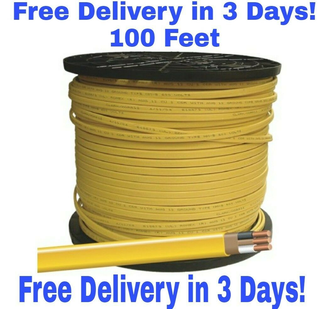 12/2 W/GROUND ROMEX Indoor Electrical Wire 100\' Feet - $39.88 | PicClick