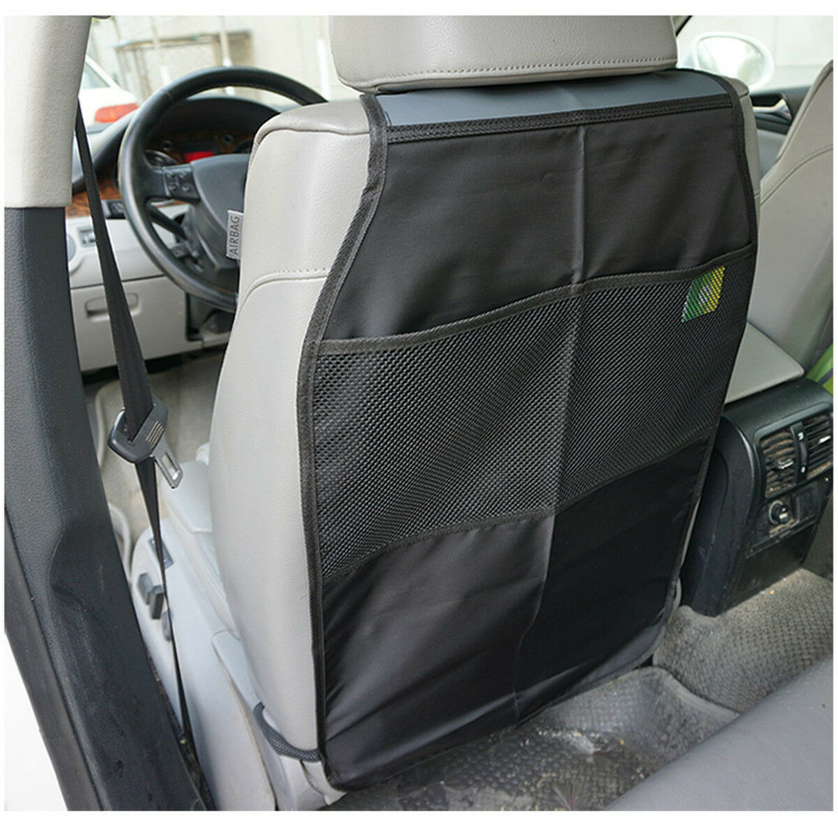 2x universal car seat back protector cover children kick mat anti kicking padded aud. Black Bedroom Furniture Sets. Home Design Ideas