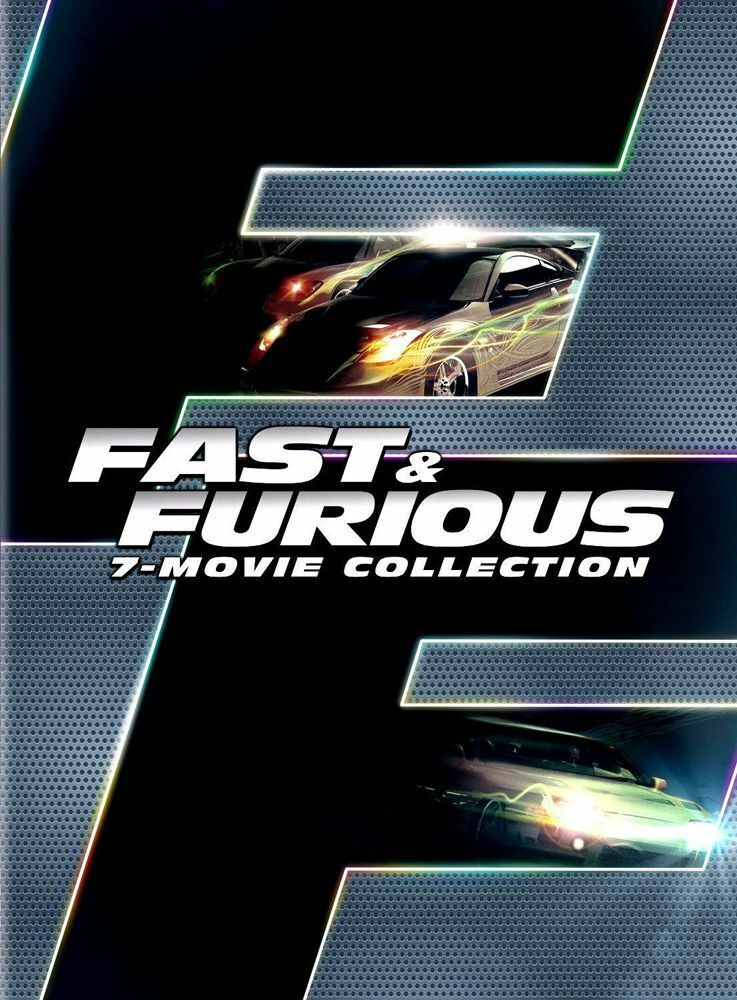 fast and furious 1 7 complete 7 movie collection dvd box set 8 disc new sealed picclick. Black Bedroom Furniture Sets. Home Design Ideas
