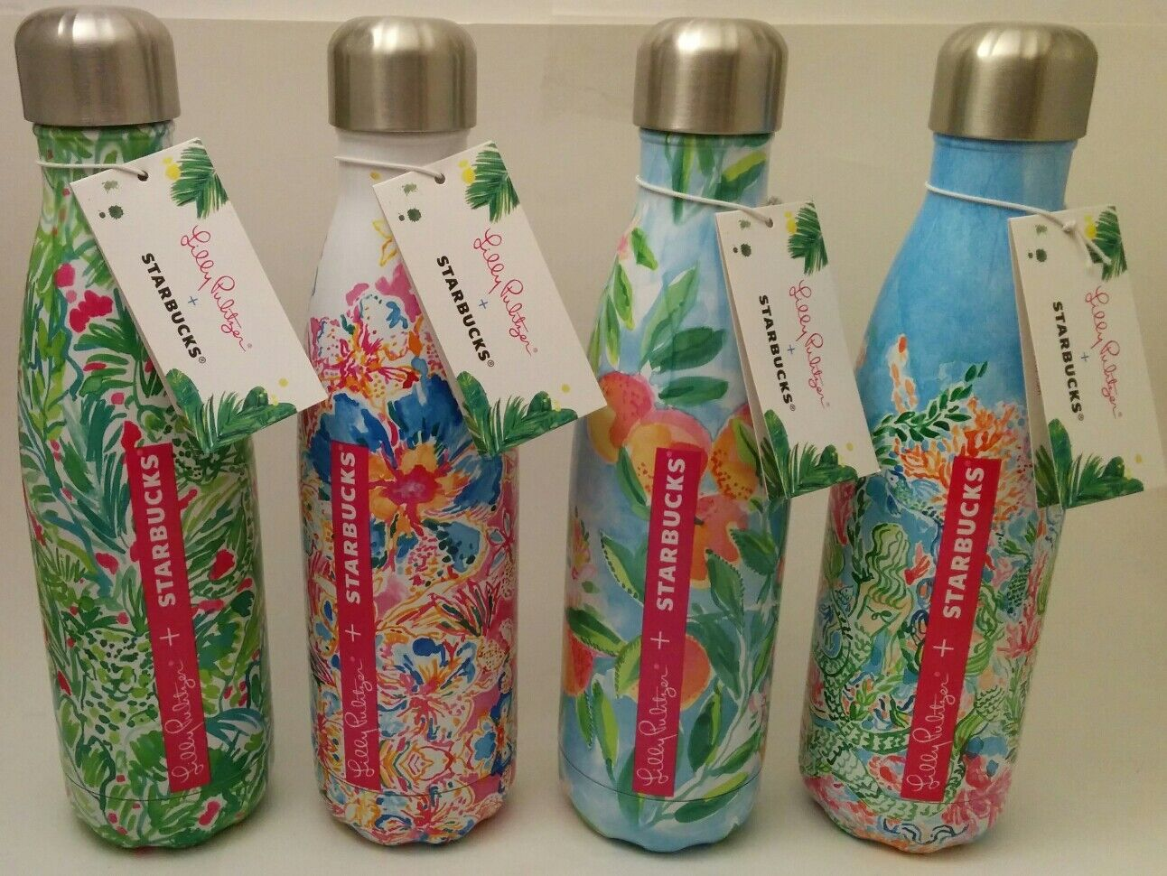 Lilly Swell   Swell Lilly Pulitzer Starbucks Water Bottle S Well New With Tags
